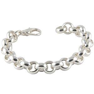 Erbsarmband hochwertige Goldschmiedearbeit (Sterlingsilber 925) Stärke 12 mm, Silberarmband, Gliederarmband, Damen…