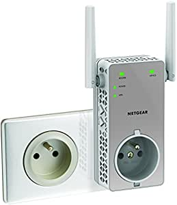 Netgear EX3800-100FRS Répéteur Wi-Fi AC750 Mbps Blanc