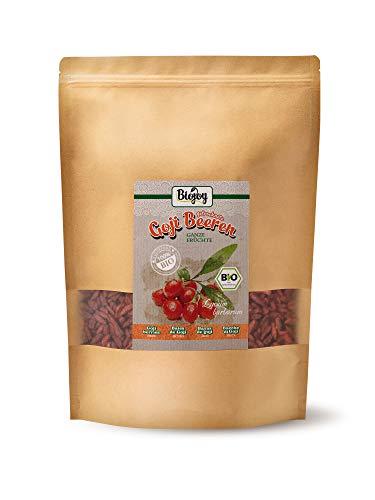 Biojoy getrocknete BIO-Goji-Beeren (1 kg) | auf über 500 Pestizide geprüfte Goji Beeren | naturreine Wolfsbeeren | ungeschwefelt & ungezuckert | Superfood-Beeren ohne Zusätze | (1 kg)