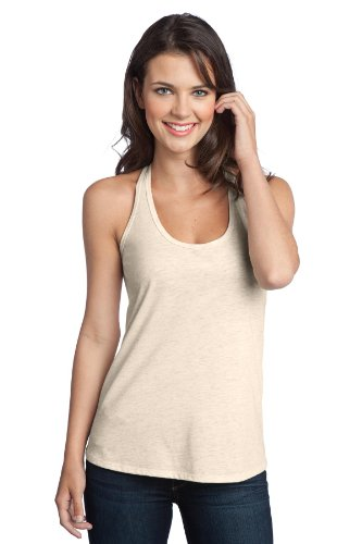 District® - Juniors Tri-Blend T-Back Tank DT250 Natural Heather 4XL (Blend Cami)