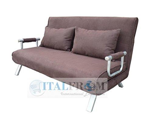 Letto 2 Piazze.Italfrom Sofa Bed Marrone 155x69x83h Divanetti Divano Letto 2 Piazze