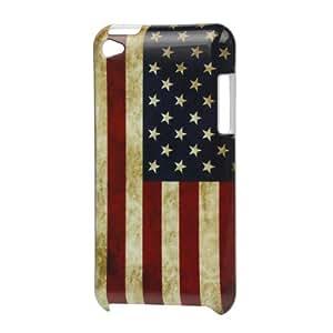 IProtect coque de protection/étui/coque de protection pour apple ipod touch 4–en plastique rigide haute qualité dans le vintage uSA american flag