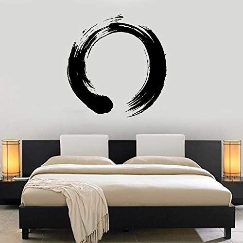 Personalitätsmuster Vinyl Wall Decal Yoga Wall Circle Enso Zen Kalligraphie Japan Nirvana Stickers For Living Room Schlafzimmer 57X58CM