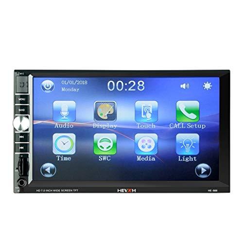 Minusk Autoradio mit Blueteeth Freisprecheinrichtung, Digital Media-Receiver, Auto Radio, USB/SD/AUX/ MP3-Player Receiver mit Fernbedienung