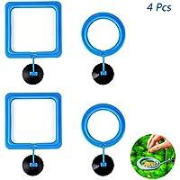 4 piezas Acuario Tanque de peces estación comedero Anillo flotante Círculo de flotador de alimentos alimentación