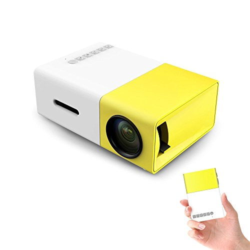 YG 300 LCD 1080P LED 3D Mini Projektor Beamer Heimkino Theater USB SD HDMI Tragbar für Video Movie Game Home Entertainment