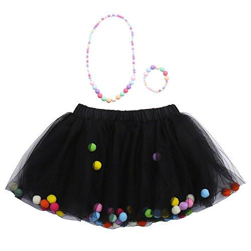 Amphia - Kinder Carnival Tutu - Mesh Rock - Tutu Rock - 3 Stücke Hohe Qualität Baby Mädchen Kinder Tutu Ballett Röcke + Armband + Halskette Party Set (Für Mit Tutus Kostüm Ideen Erwachsene)