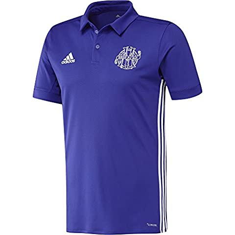 Polo de football Adidas Olympique de Marseille 2017-2018 pour hommes - 3eme kit S Multi-Colour/Tinene/Blanco
