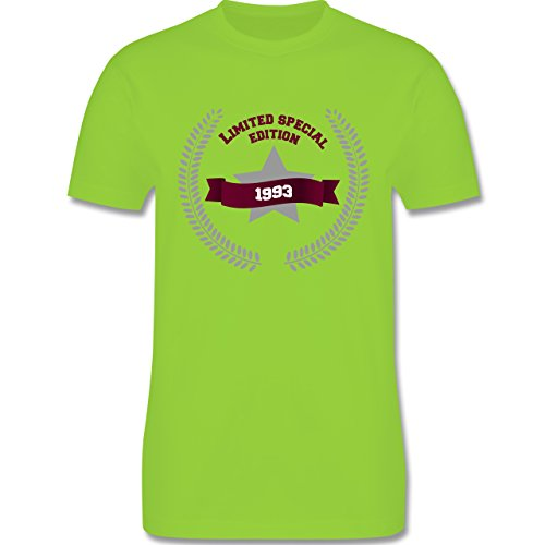 Shirtracer Geburtstag - 1993 Limited Special Edition - Herren T-Shirt Rundhals Hellgrün