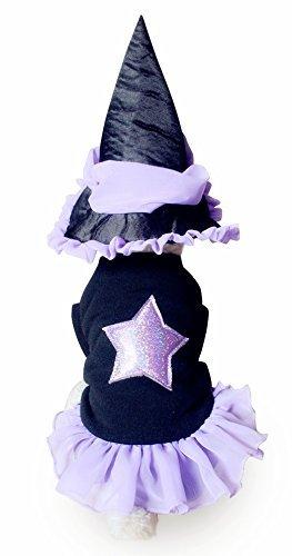 nd Katze Violett Hexe Tütü& Hut Kostüm Kleid Outfit - Medium (Hexe Outfits)