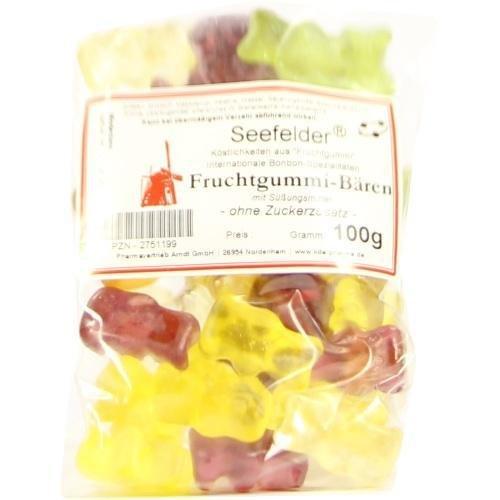 SEEFELDER Fruchtgummi-Bären o.Zuckerzusatz KDA 100 g Beutel