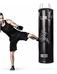 Saco profesional de boxeo feierdun 35kg MMA Kick Boxing Artes Marciales–sintética negro–Vacío, de rellenar