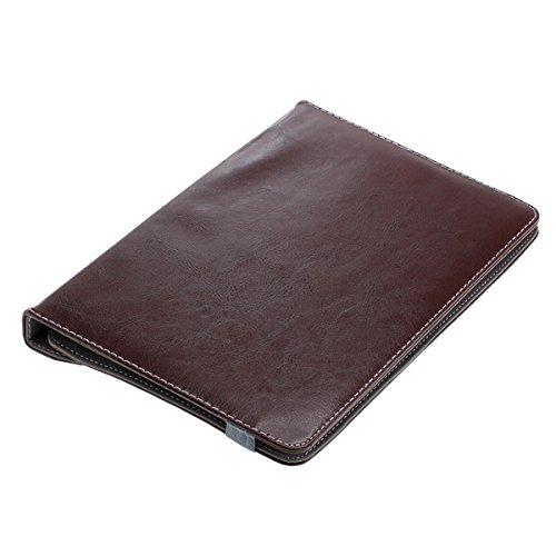 OTB Universal Rotation Bookstyle Tasche mit Halteklammer für Tablets bis 10 Zoll Braun