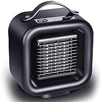 ZBJJ Mini Calentador eléctrico, Calentador de Espacio de cerámica de 1000W / 650W PTC, con oscilación automática, Equipado con protección contra sobrecalentamiento e inclinación, Viento cálido/Natur