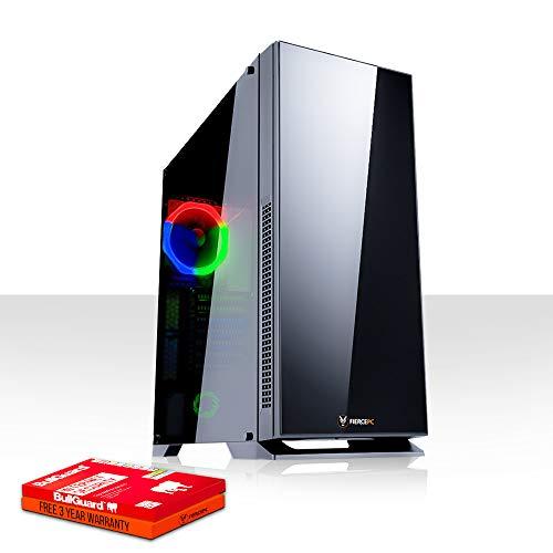 Fierce Ninja High-End RGB Gaming PC - Schnell 4.3GHz Hex-Core Intel Core i5 8600, 240GB Solid State Drive, 1TB Festplatte, 16GB 2666MHz, AMD Radeon RX 570 4GB, Windows Nicht Enthalten 1036459