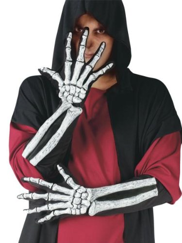 Bone glove and wrist (Adult) skeleton Globe Skeleton Glove And Wrist Bone Gloves (for adults) Halloween Size: One-Size (japan (Globe Kostüme)