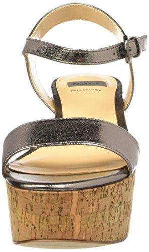Bata Damen 7611528 Knöchelriemchen Silber (Argento)