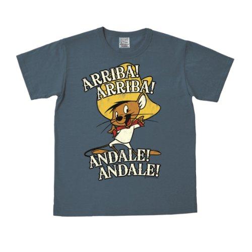 logoshirt-camiseta-looney-tunes-arriba-andale-azul-l