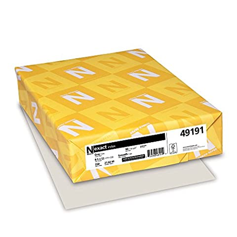 Exact Index Card Stock, 90 lbs., 8-1/2 x 11, Gray, 250 Sheets/Pack