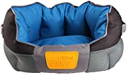 GiGwi Place Soft Bed Canvas, Blue/Black, Medium, 8330