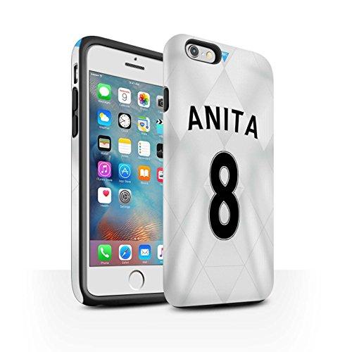 Offiziell Newcastle United FC Hülle / Matte Harten Stoßfest Case für Apple iPhone 6+/Plus 5.5 / Pack 29pcs Muster / NUFC Trikot Away 15/16 Kollektion Anita