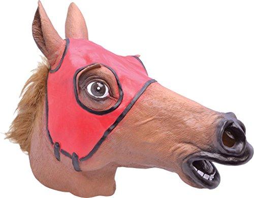 Erwachsene Plüschtier Mascot Pantomime Pantomime Maskenkostüm Mit Kapuze Maske - Rennsport Pferd, One size (Pantomime Pferd Kostüm)