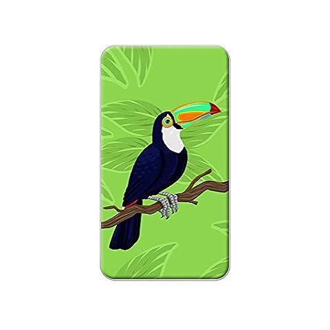 Toucan–Jungle perroquet tropical Oiseaux métallique à revers A T-shirt Sac à main Pin Cravate Pin Back