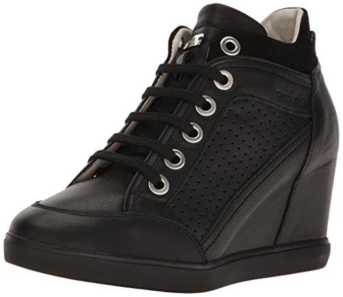 Geox D Eleni C Sneaker a Collo Alto Donna Nero Black 41 EU c3q