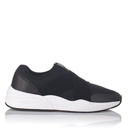 Victoria , Damen Sneaker schwarz Schwarz Schwarz