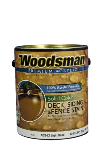 A USA Made Product Woodsman® Premium 100% Acrylic Solid Color Deck Siding & Fence Stain, Exterior for Wood Decks, Siding & Fence, 1 Gallon