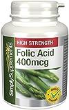 SimplySupplements Folic Acid (Vitamin B9) 400mcg|Pregnancy Care|360 Tablets