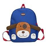 Sansee Kindergartenrucksack Hund Muster Cartoon Kinder Rucksack Schultasche für 1-7 jährige Jungen und Mädchen im und Kita Kleine und Große Freunde (Himmelblau)
