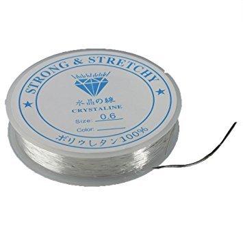 Jooks Spule elastisch Schmuckfaden Gummifaden Faden Beading Thread Handwerk Schmuck Armband Herstellung Schnur 0.4mm