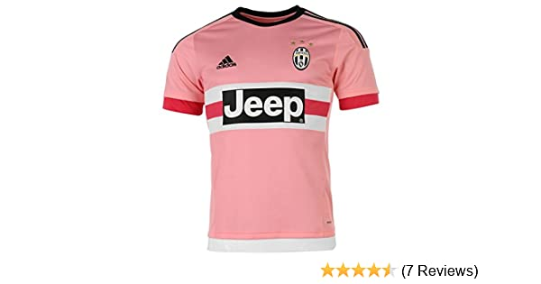 adidas FC Juventus Away Jersey 2015 2016 - Pink Bright Pink Black White  (S12846) SizeXL  Amazon.co.uk  Sports   Outdoors 9929be482