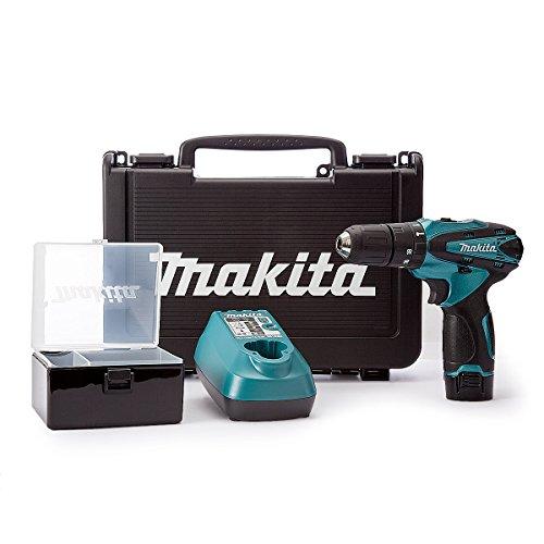 Makita HP330DSP1C Metallic Blue Combi Drill 10.8V Cordless li-ion (1 x 1.3Ah Battery)