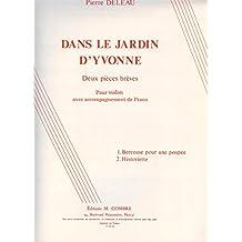Partitions classique COMBRE DELEAU P. - DANS LE JARDIN D'YVONNE - VIOLON ET PIANO Violon