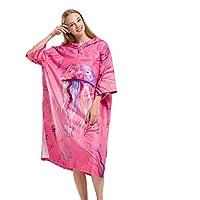 Adultos cambiando bata de baño poncho Lady Poncho Surf Surf Poncho Toalla con capucha Batas de