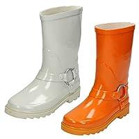 Spot On Childrens/Kids Plain Ring Trim Wellington Boots
