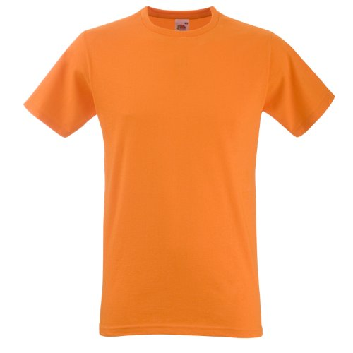 Fruite of the Loom Fitteed Valueweight T-Shirt, vers. Farben Orange