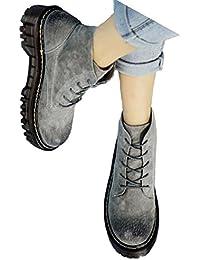 QVRGE Botas De Mujer Chelsea Botines Zapatos Planos Zapatos Botas Botas De Invierno