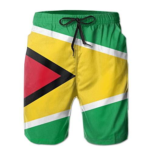 Men Swim Trunks Flag of Guyana Beach Bathing Suit Casual Athletic Shorts Quick Dry Swim Briefs for Summer,Size:M - Hi Leg Brief