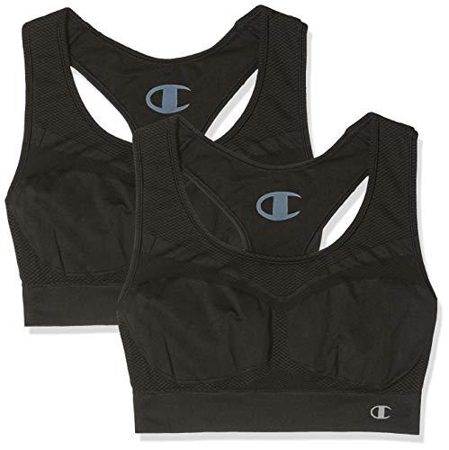 48a357ae89 Champion Women's Freedom Seamless X2 Sports Bra, Black (Noir 3am), Medium  pack