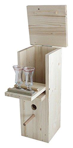 Elmato 24104 Schluckspecht - Schnapsbar Vogelhaus-Imitat Minibar,Gartenbar,Geschenk