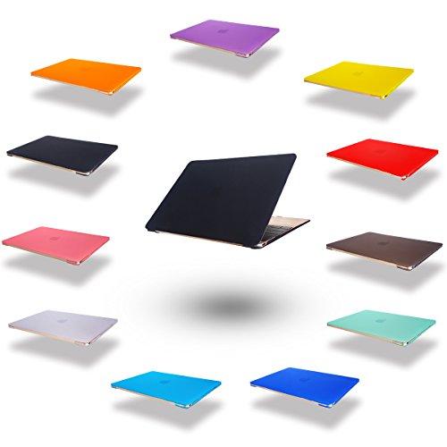 Elegantes und leichtes Cover Ultra Dünn Schutz Hülle Case Cover Schutzabdeckung Hardcase Notebook Hülle Hartschale Etui für Apple Macbook Air 13.3 Zoll(A1369/A1466/760) in schwarz