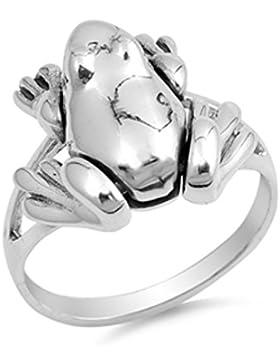 Ring aus Sterlingsilber - Frosch
