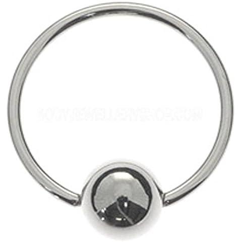 Bola de acero quirúrgico cierre del anillo - 0.8mm 10mm