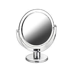 Acryl Standspiegel Kosmetex mit 10-fach Vergrößerung, Spiegel, Kosmetik-Spiegel mit 2 Seiten von Kosmetex