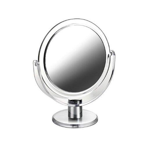 Acryl Standspiegel Kosmetex mit 10-fach Vergrößerung, Spiegel, Kosmetik-Spiegel mit 2 Seiten von...