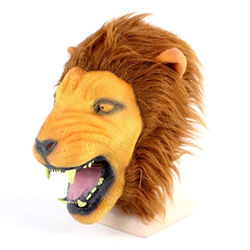 Maske Deluxe Terror Ein Ghost Chasing Maske Löwe Kopf-Kopf-Latex-Tier Kopf Maske Für Lustige ()