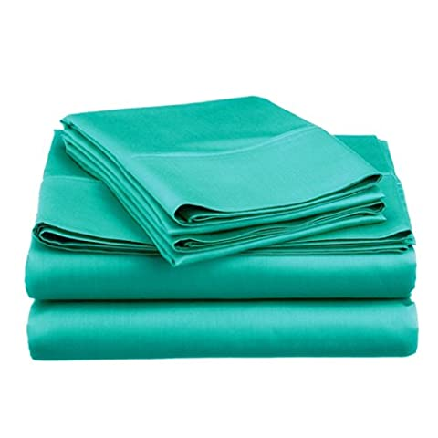 Spirit Linen Super Bright Collection Microfiber Sheet Set, turquoise, King
